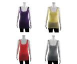 Wholesale Womens Ex Chainstore Vest Tank Top RIBBED